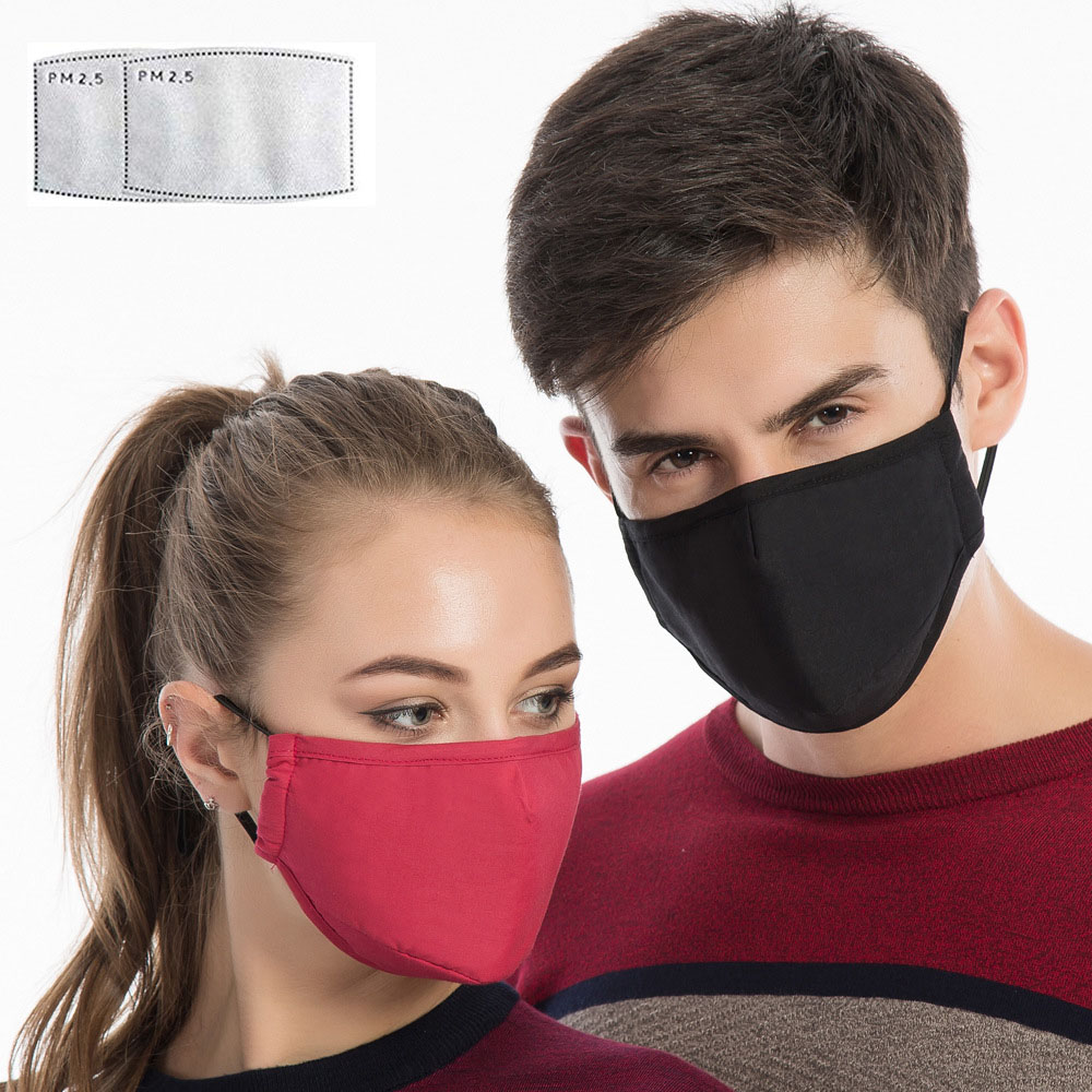 PM2.5 Mouth Mask Anti Dust Mask Activated Carbon Filter Windproof Mouth-muffle Bacteria Proof Bicycle Face Masks Care