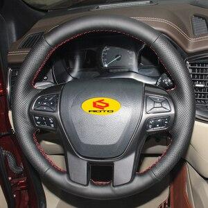 Image 3 - غطاء مضفر لعجلة القيادة ، غطاء عجلة القيادة لـ Ford Ranger 2016 2017 2018 Everest 2019 2016 2017 2018 cache volant ، 2019