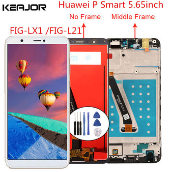 For Huawei P Smart LCD Screen Tested AAA Lcd Display+Touch Screen Replacement with Frame for For Huawei P Smart 2018 5.65'' new tested lcd display matrix for 7 oysters t7x 3g tablet 1024 600 tft lcd screen panel lens frame replacement free shipping