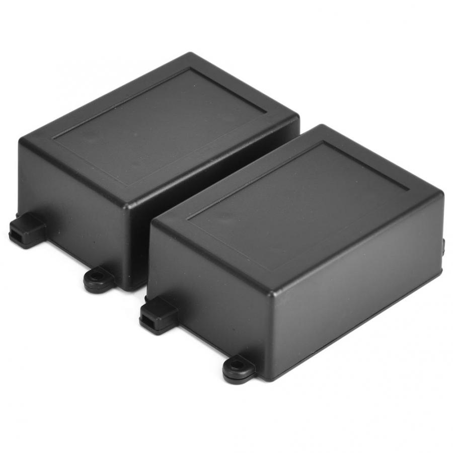 2PCS ABS Electronic Enclosure DIY Instrument Project Box Circuit Board Relay Module Housing Wire Junction Box 82 X 57 X 35mm