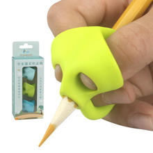 3Pcs/set Cute Silicone Pencil Grip Beginner Writing Aid Tool Baby Double Thumb Posture Correction Tool Pen Holder Kids Supplies