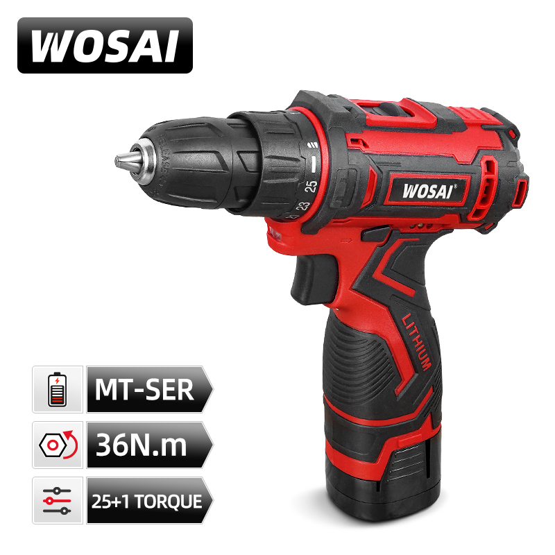 VVOSAI 16V  Cordless Drill Electric Screwdriver Mini Wireless Power Driver DC Lithium-Ion Battery 3/8-Inch