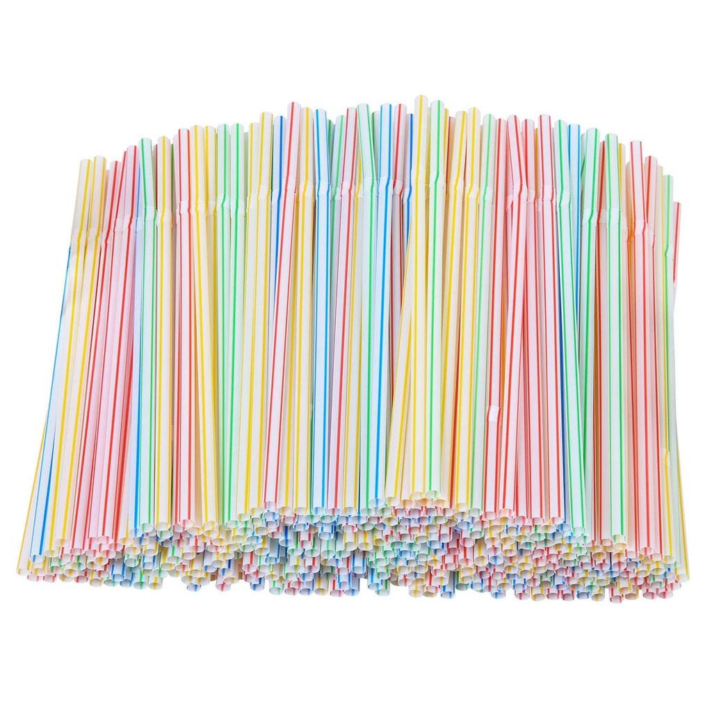 300 шт пластиковые соломинки для питья 8 см в длину мульти-Цветной полосатый Bedable одноразовые соломинки вечерние мульти Цветной Радуга соломе...