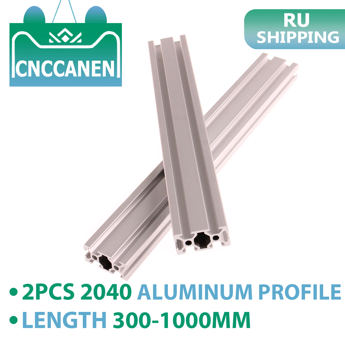 2PCS <font><b>2040</b></font> Aluminum Profile <font><b>Extrusion</b></font> European Standard Anodized Linear Rail 300mm 400mm 800mm 1000mm for CNC 3D Printer Parts image