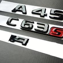 Badges Emblems BLACK C63s Amg W176 Mercedes-Benz Trunk Letters E63S GLOSS Chrome