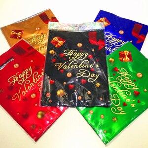 Image 5 - 10 stücke 17x25cm Aluminium Kunststoff Tasche Mit Griffen Für Geburtstag Weihnachten Party Hochzeit Verdickung Boutique Geschenk Einkaufen paket