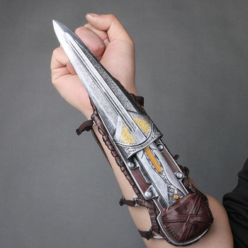 Assassin's Creed Hidden Blade Sleeve Blade Hidden Figure Edward Blade Weapons Sleeves Swords Can Ejection Cosplay Tools цена 2017
