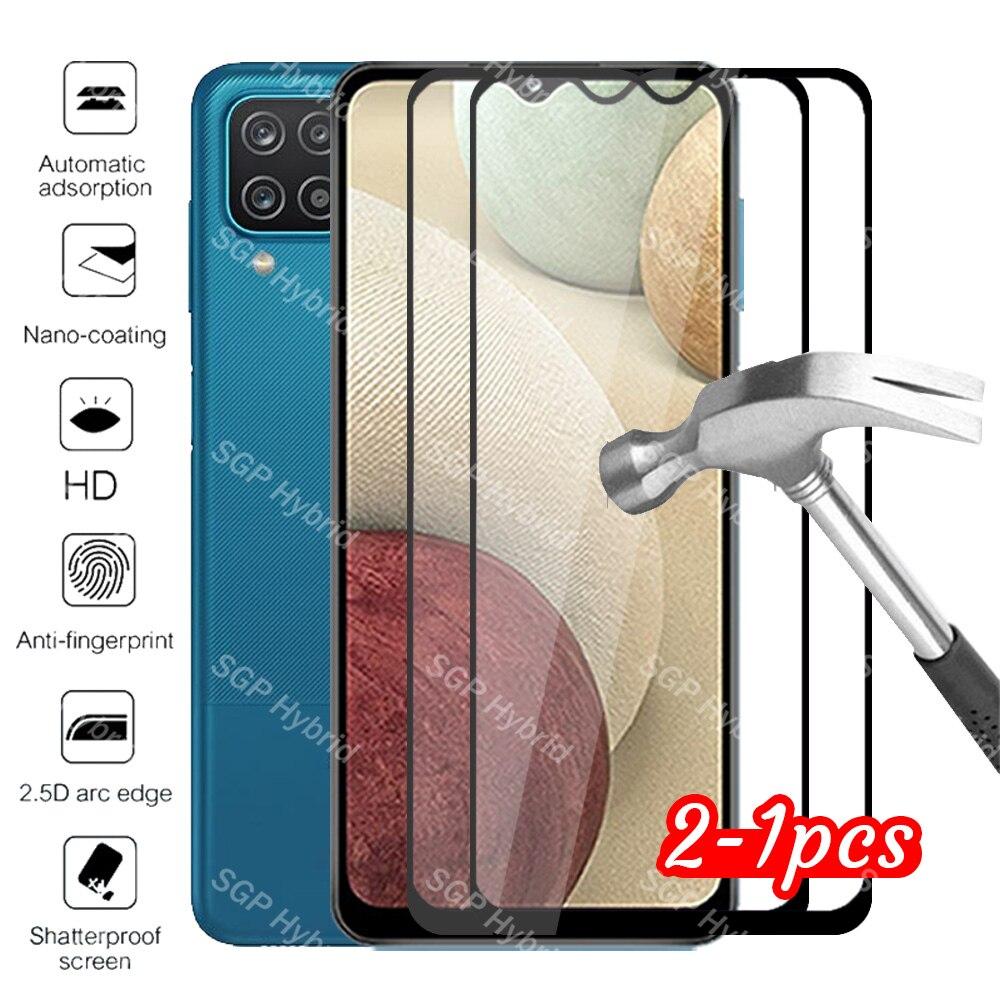 2 peças de vidro protetor para samsung a12 caso para samsung galaxy a12 a 12 12a vidro temperado samsun galaxy a12 2021 telefone capa