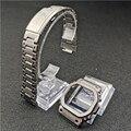 Ретро Серебряный ремешок для часов ободок для DW5600 GW5000 GW-M5610 316L нержавеющая сталь металлический ремешок стальной чехол с инструментами