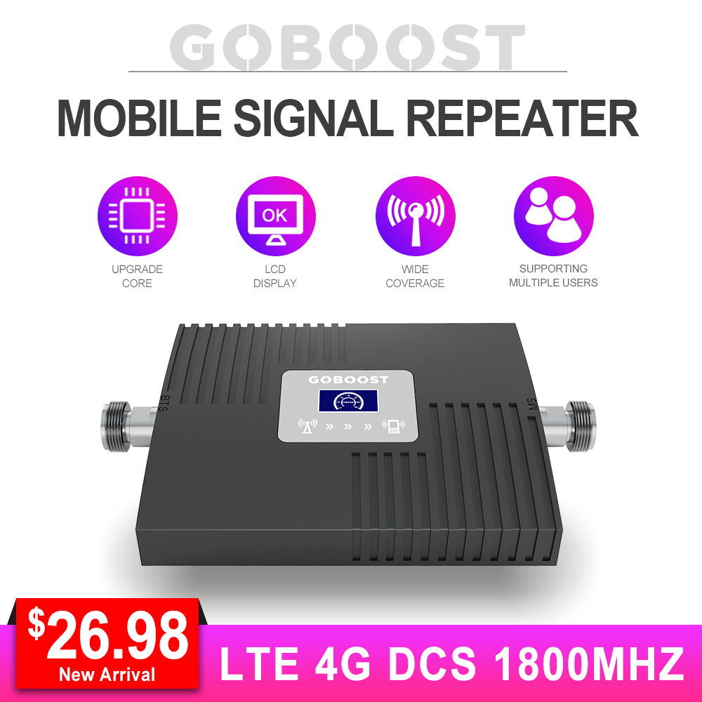 LTE Cellular Signal Booster 4G 1800MHZ DCS GSM 4G Repeater 4G Booster Signal For Mobile Phones Band3 With LCD Display Mini NEW *