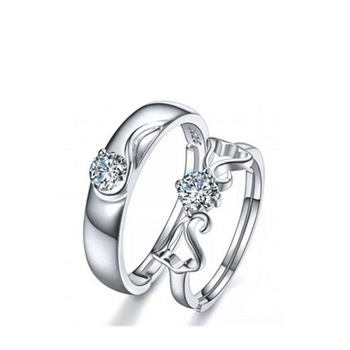 Sterling Silver Angel Wing Couple Set 5
