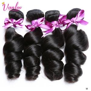 Vanlov Loose Wave Bundles 100% Remy Human Hair Weave Bundles 1/3/4 Pcs/Lot Indian Hair Bundles Extension 8-30 Inch