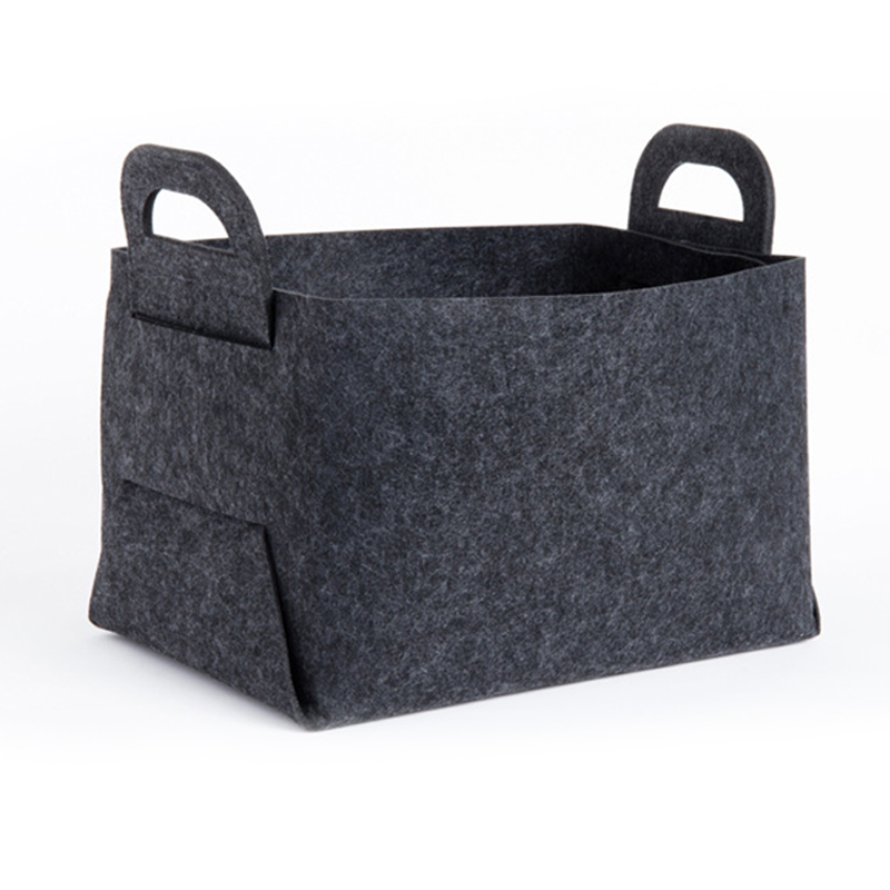 Useful Goods Felt Collapsible Storage Basket For Laundry - Foldable Organizer Container Bin For Toys, Clothes, Towels, Closet,Bl
