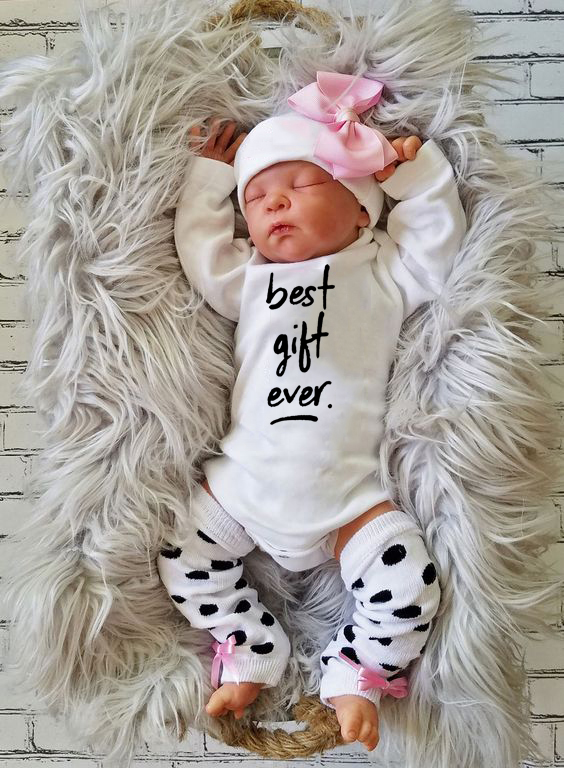 Infant Unisex Cotton Romper Best Gift Ever Print Toddler Long Sleeve Jumpsuit Clothing Newborn Baby Shower Gifts Clothes