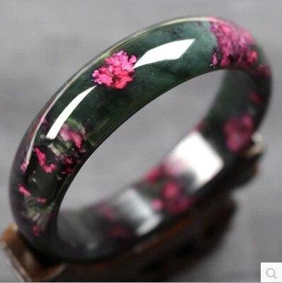 Koraba Plum Flower Natural Jade  Bracelet Peach Bangle Buddhist Prayer Mala Bracelet  Bangle  Gifts For Women