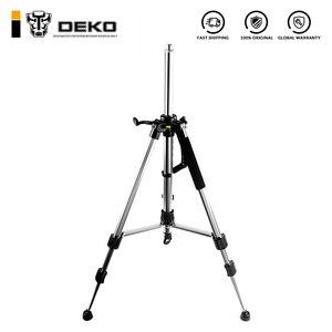 DEKO 120cm Laser Level Tripod Nivel Laser Tripod Professional Carbon Tripod for Laser Level Aluminum Adjustable Tripod(China)