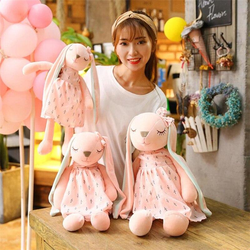 Long Ears Cute Rabbit Doll Baby Soft Plush Toys For Children Rabbit Sleeping Stuffed Plush Animal Baby Toys For Infants