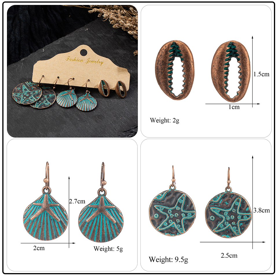 Bohemian Bronze Big Flowers Drop Earrings for Women 10 Style Vintage Leaf Metal Tassel Fringe Hanging Earring Females Jewelry (19)