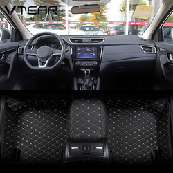 Vtear For Geely Coolray SX11 Floor mat leather interior carpet Mouldings cover waterproof pads rugs accessories decoration parts