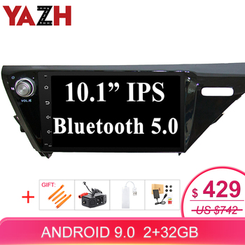 """YAZH 10.1"""" IPS Screen Android 9.0 Pie Car Stereo Radio For Toyota Camry 2018 2019 2020 With 32GB Bluetooth 5.0 GPS Navigation"""