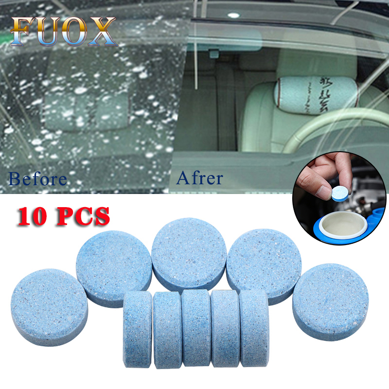 10PCS/Pack(1PCS=8L Water)Car Solid Wiper Fine Seminoma Wiper Auto Window Cleaning Car Windshield Glass Cleaner Car Accessories