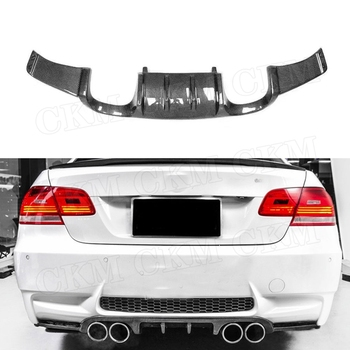 Carbon Fiber Rear Diffuser Spoiler for BMW 3 Series E92 M3 2008-2013 HM Style FRP Back Bumper Lip Guard Direct installation image