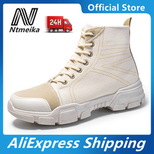 Men Fashion Boots 2020 High Quality Canvas Tactical Combat Desert Ankle Boots Mens Shoes Lightweight zyyzym men desert boots tactical military boots mens high top outdoors shoes army boot zapatos ankle lace up combat boots men