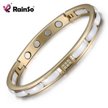 Rainso 2021 Healthy Bracelet Trendy Unisex Bio Energy Ceramics Gnet Negative Ions Germanium Bracelets Jewelry Sister Gift 1