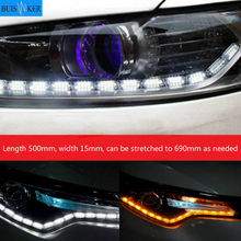 2 PCS Ultrafine 500mm 15mm DRL Flexible LED Tube Style Turn Signal Lamps Daytime Running Lights Tear Strip Car Headlight(China)
