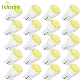 цена на 20PCS T10 Car White LED 194 168 SMD W5W Wedge Side Light Bulbs Car External Clearance Lights Led 12V Wedge Side Bulbs Lamp