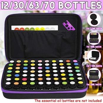 12/30/70 botellas de aceite esencial, estuche de 15ML, bolsas de recogida de aceite esencial, bolsas de transporte portátiles de viaje, bolsa de almacenamiento de esmalte de uñas