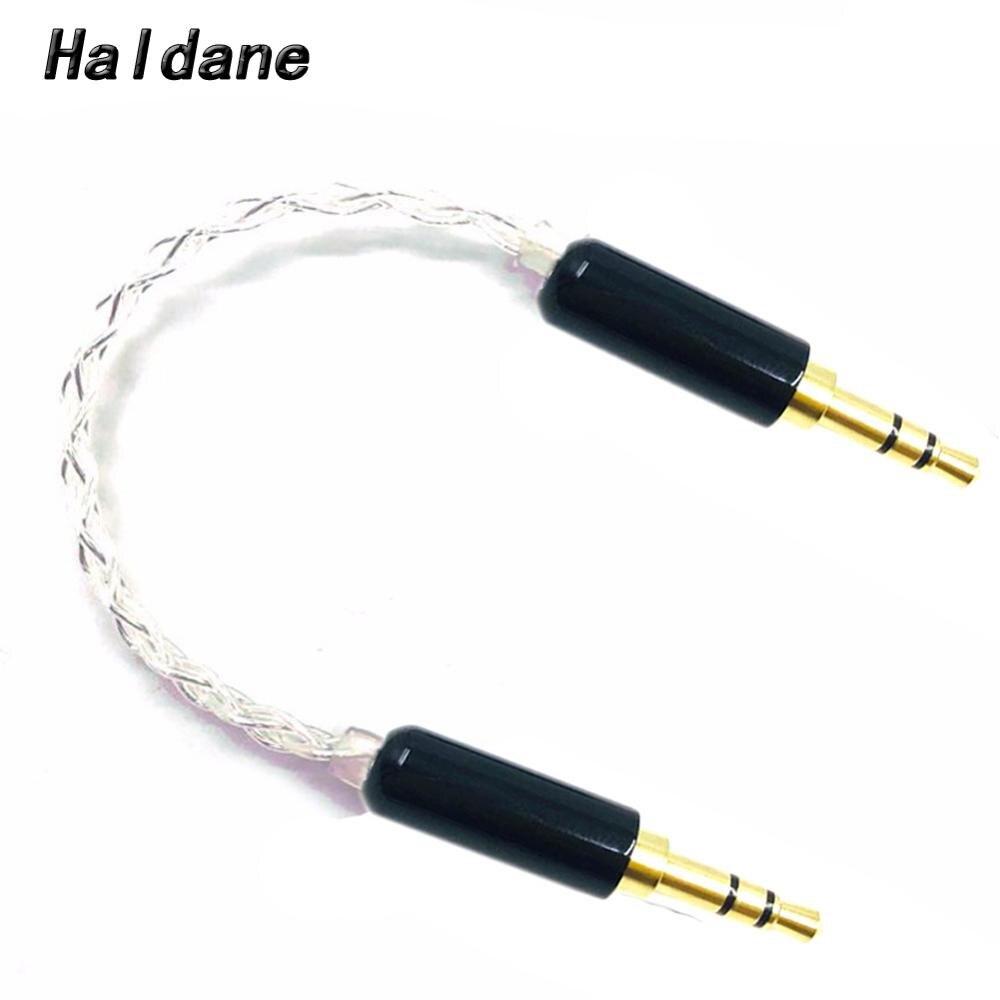 Haldane HIFI 10cm argent plaqué 3.5mm mâle à 3.5mm mâle stéréo câble Audio voiture AUX fil câble de saut