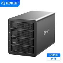 Док станция для жесткого диска ORICO 35 Series 4 Bay Enterprise, 64 ТБ, с двойным чипом, 150 Вт, встроенный жесткий диск с питанием, чехол для жестких дисков 2,5 дюйма