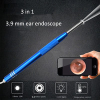 Forestking 3 in1 USB Endoscope Inspection Camera 3.5 mm IP67 Waterproof 1200P HD Camera Borescope with 6 Adjustable LED Lights and Snake Cable for Android iOS Smartphone//PC//Laptop//Computer 1M