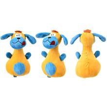 Bowling forma de perro alfiler orejas grandes juguetes de peluche de perros juguetes para perros con sonido mascota cachorro masticable Squeaker juguete de peluche