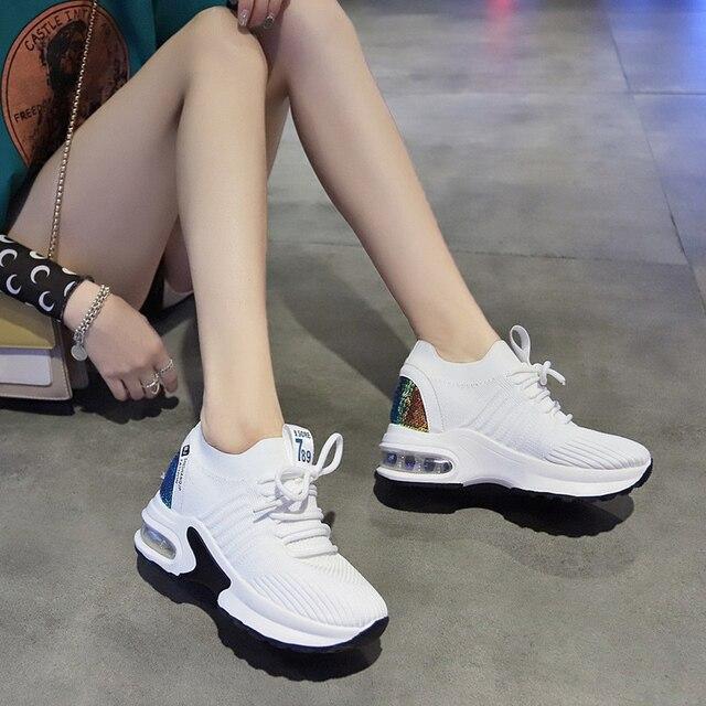 Купить женские теннисные туфли теннисная обувь увеличивающая рост спортивная