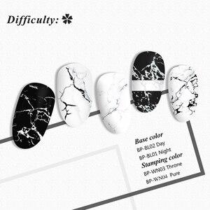Image 2 - BORN PRETTY prostokątne płytki do tłoczenia paznokci marmur tekstury tusz do paznokci artystyczny obraz tekstury motyw L001