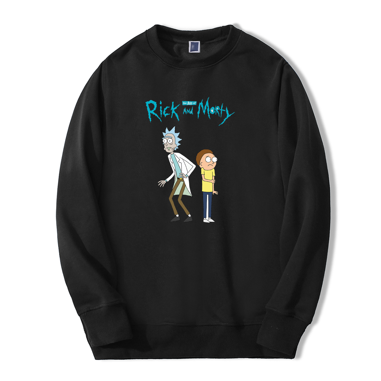 Anime Science Hoodie Rick And Morty Print Harajuku Sweatshirts New Winter Autumn Brand Hoodies Hip Hop Streetwear Men Jackets