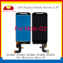 купить 10Pcs/lot LCD Display For Motorola Moto G2 XT1063 XT1064 XT1068 XT1069 XT1072 Touch Screen Digitizer LCD Assembly Replacement по цене 6269.82 рублей