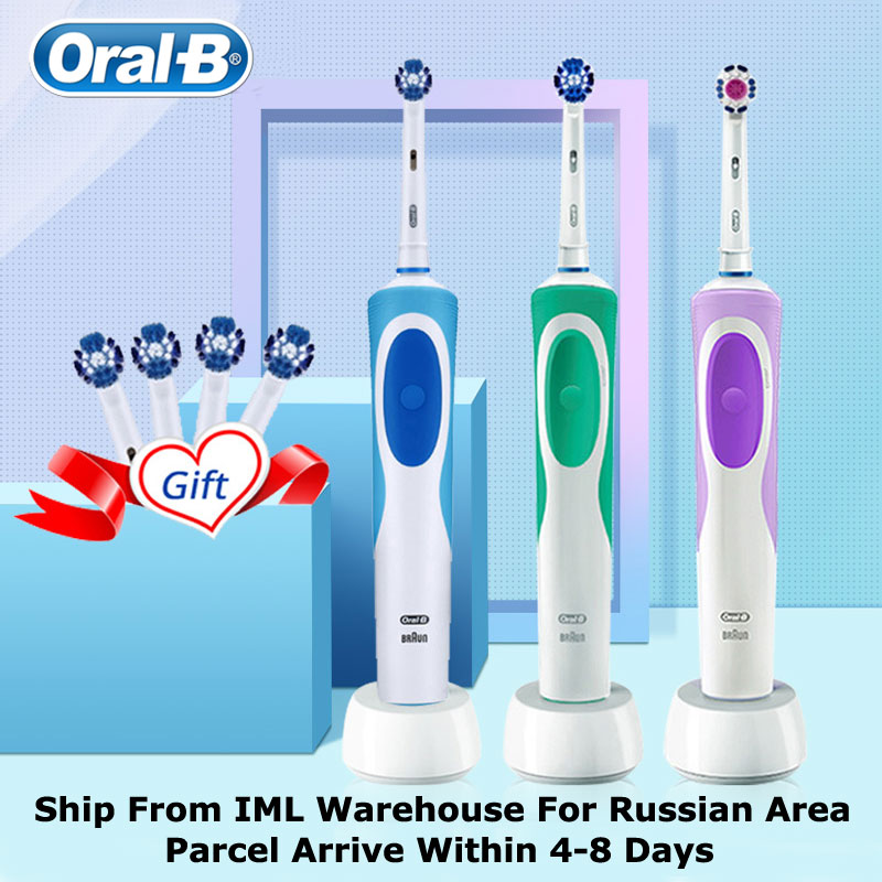 Original Oral B Vitality Electric Toothbrush Rotating Type Electric Teeth Brush Precision Cleaning Whiten Teeth Protect Your Gum image