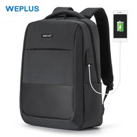 WEPLUS multifunctional Laptop Backpack for 15.6 inch USB Charging Casual daypack Waterproof School Bag Men Female Girl Backbag