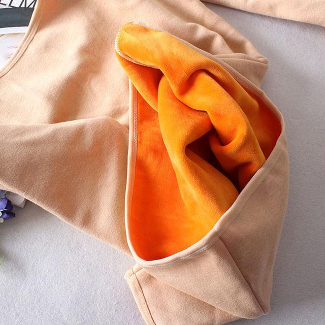 Autumn Winter Plus Velvet Long Sleeve T Shirt Women Thick Warm Cotton Tshirt Women Casual Tee Shirt Femme Slim Ladies Tops C5934 2