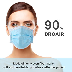 Image 2 - Anti Pollution 3 Layers Mask Dust Protection Masks Disposable Face Masks Elastic Ear Loop Disposable Dust Filter Safety Mask