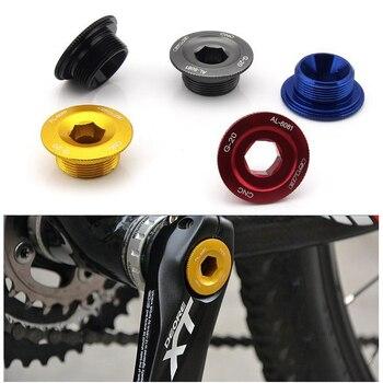 Soporte inferior barato rueda de cadena cubierta de manivela BB tazas perno de brazo CNC AL6061 platos y bielas de bicicleta de montaña tornillo de fijación para Deore/SLX/XT