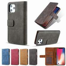 Wallet Book Case For iphone 11 Pro Max 2019 Slim Flip Cover Stand For iphone 5S 5 6 6S 7 8 Plus XR XS Max X Vintage Leather Case(China)