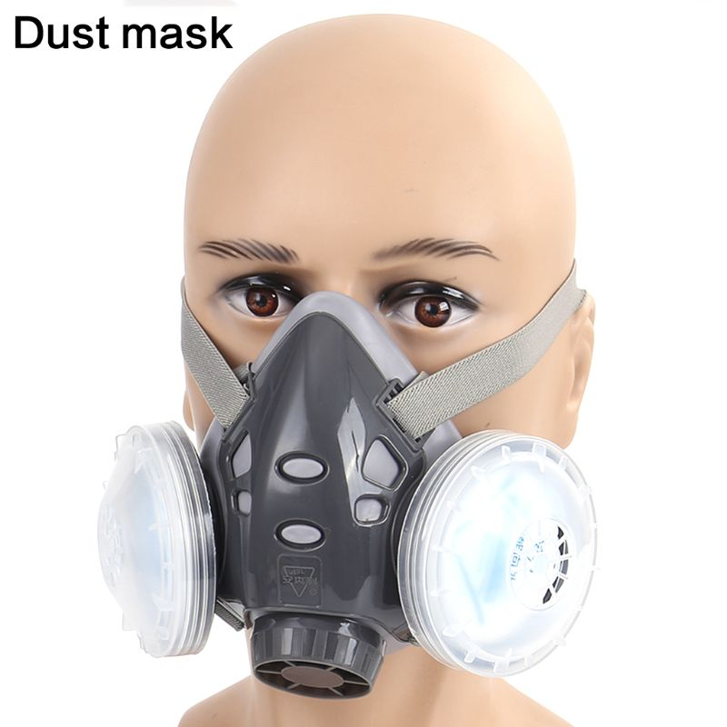 Full Facemask Respirator Gas Mask Filter Dust Protective Facepiece Mask For Paint Spraying