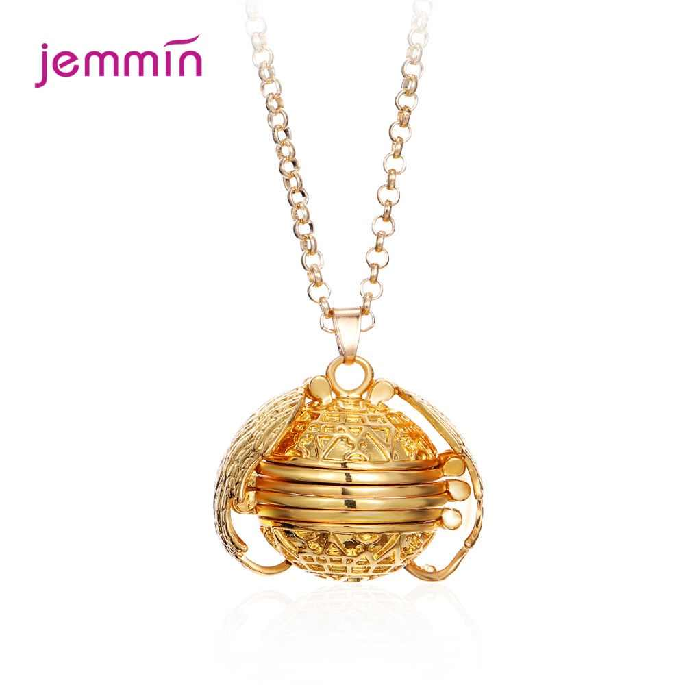 Magic 4 Photo Pendant Memory Floating Locket Necklaces For Women 925 Sterling Silver Angel Wings Flash Album Box Necklaces
