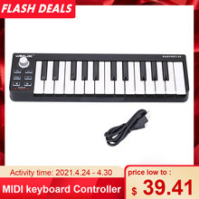 Hot Worlde MIDI keyboard MIDI Controller and Drum Pad MINI 25-Key Ultra-Portable USB MIDI Keyboard Controller Piano Keyboards