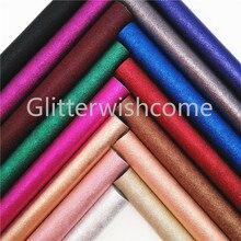 Glitterwishcome 21X29 см A4 размер винил для бантов металлик искусственная кожа ткань, синтетическая искусственная кожа листы для бантов, GM654A
