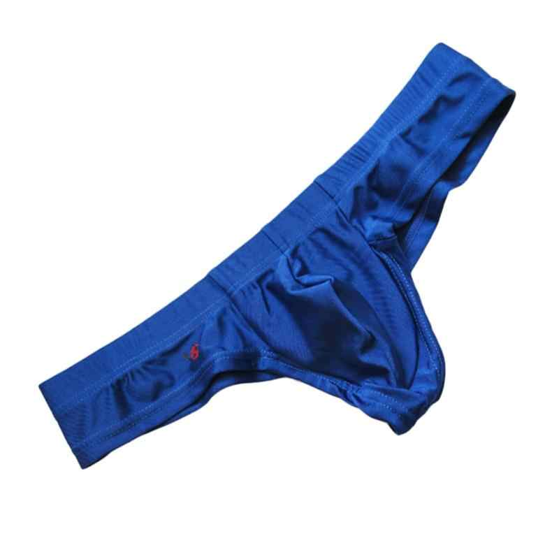גברים סקסי מהיר ייבוש מכנסיים קצרי מותניים U קמור פאוץ ספנדקס Mens תחתוני ביקיני חוטיני Thong ספורטאיות טנגה אקזוטי
